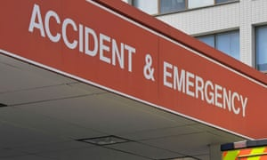 A hospital accident and emergency department