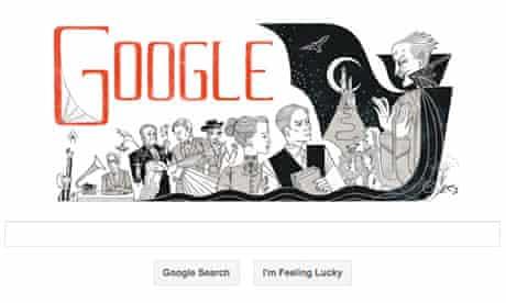 Bram Stoker books celebrated in Google doodle
