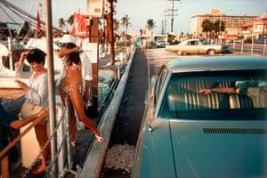 Joel Meyerowitz Monograph: Two women at roadside in sixties Florida