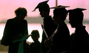 Silhouette og graduates