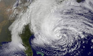 A satelllite image of superstorm Sandy