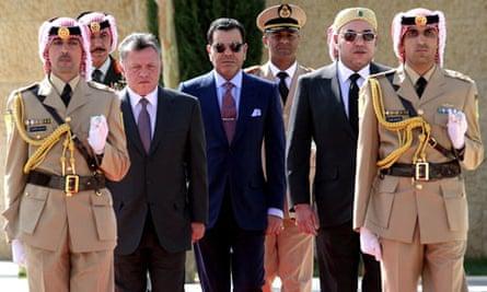 King Abdullah II of Jordan and Morocco's King Mohammed VI in Amman