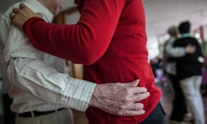 Elderly germans who have Alzheimer's disease dance at a community centre in Berlin