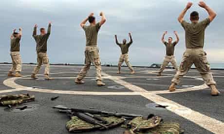 US marines training