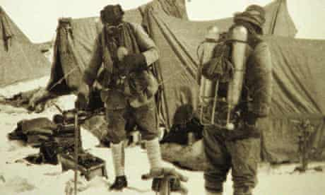 British mountaineers George Mallory and Andrew Irvine