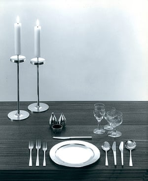 RCA 175 Years: Embassy silver cutlery and candlesticks, 1963, David Mellor