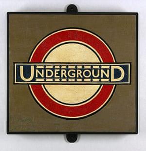 RCA 175 Years: Edward Johnston, Underground Roundel from Westminster Station