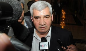 Riad Seif, the driving force behind the Syrian National Initiative speaks to reporters in Doha, Qatar, 08 November 2012. Syrian opposition groups were meeting for crucial talks on a US-backed plan to forge a united front dedicated to ousting the Assad regime.