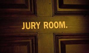 A door marked Jury Room