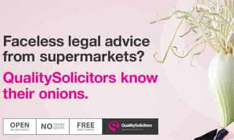 Quality Solicitors ad