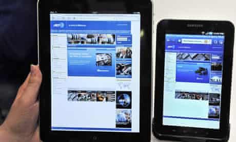 An Apple iPad and a Samsung Galaxy Tab