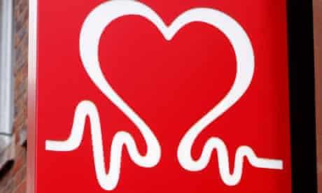 British Heart Foundation sign