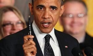 Barack Obama fiscal cliff pen