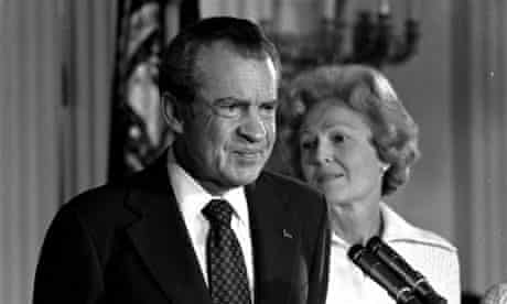 Richard Nixon after resigning in 1974 over the Watergate scandal