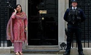 Baroness Warsi wearing shalwar khameez at Downing Street in May 2010