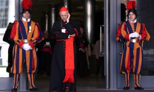 Cardinal Angelo Bagnasco (C) attends the Synod of Bishops for The New Evangelization for the Transmission of the Christian Faith at the Synod hall on October 19, 2012 in Vatican City, Vatican.