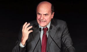 Democratic Party (PD) leader Pier Luigi Bersani speaks as he celebrates his victory on stage in downtown Rome December 2, 2012.
