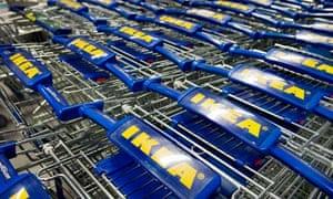 Ikea shopping trolleys
