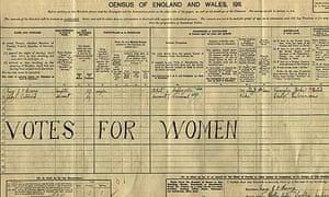 1911 census: votes for women