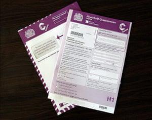 UK census: 2011 Census form