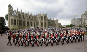 A general view of the procession of the Order of the Garter in Windsor, England