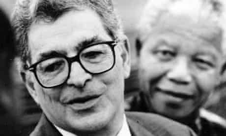 Arthur Chaskalson, left, with Nelson Mandela.