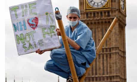 NHS cuts protest
