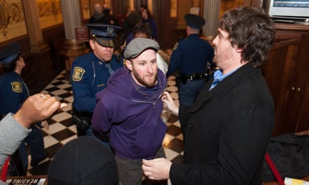 Michigan right-to-work protests