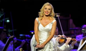 Katherine Jenkins performs at the Royal Albert Hall in London, England.