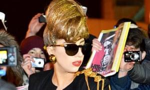 Lady Gaga arrives in St Petersburg