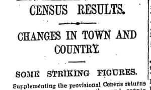 1911 census blue book released, June 1911