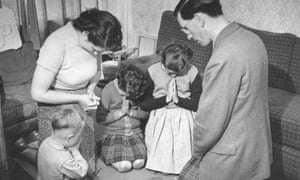 A Mormon family pictured in 1957
