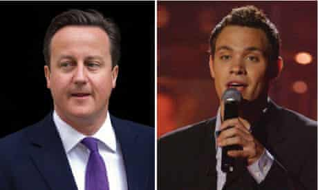 David Cameron and Will Young