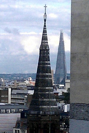 A church and the Shard in central London. Photograph: Paul Owen