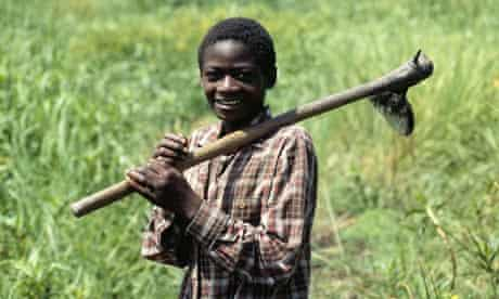A young farmer in Africa