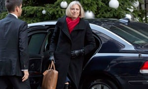 Britain's Home Secretary Theresa May arrives for a cabinet meeting at Downing Street in London