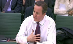 David Cameron addresses the Commons liaison committee