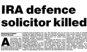 Finucane killed