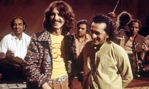 Ravi Shankar with George Harrison in the 70s.