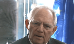 German finance minister Wolfgang Schaeuble interviewed ahead of the Ecofin meeting