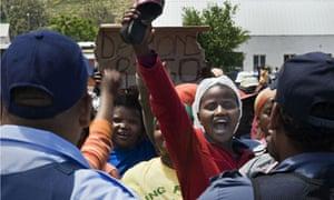 South Africa striking farm worker
