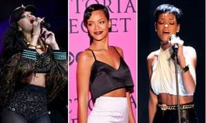 Year in fashion: Rihanna in crop tops