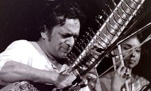 Ravi Shankar playing the sitar