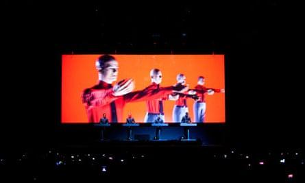 Kraftwerk perform on stage in Sweden in August