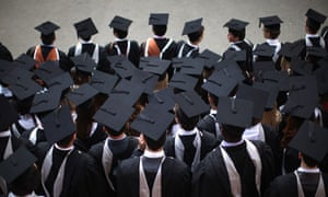 Graduates in gowns and caps