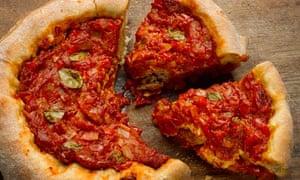 Dan Lepard's deep-pan pizza pies