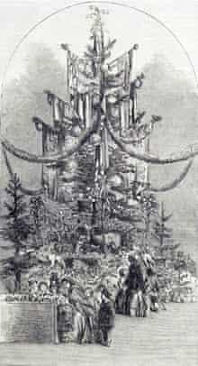 """""""Christmas-tree at the Crystal Palace"""", 1854"""