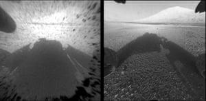2012 in Science: Hazard-Avoidance camera on NASA's Curiosity rover