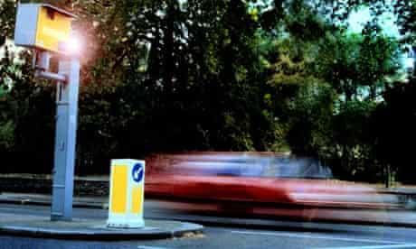 Car Speeding Passed Speed Camera