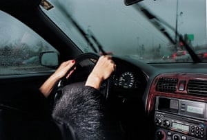 Elinor Carucci's photograph of her mother driving
